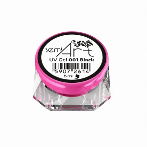 SEMI ART UV GEL 001 BLACK