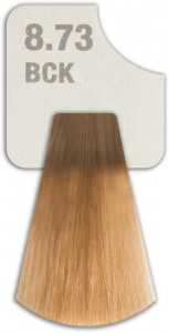 WIZOUT HAIR COLOR MIXED 8.73 BCK LIGHT KHAKI BLONDE