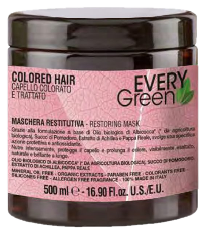 Every Green Colored Hair 500 ml Naturalna maska do farbowanych włosów